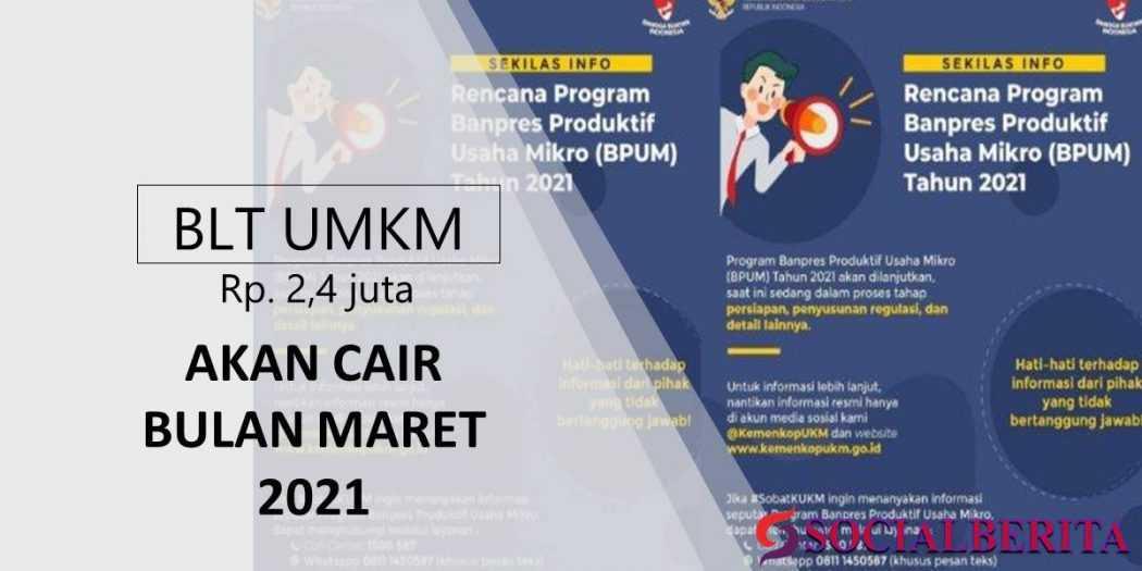 BLT UMKM Rp 2,4 Juta Akan Cair Bulan Maret 2021 | Social ...